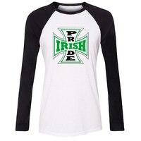 Irish Pride Flag Iron Cross St Patrick S Day Special Design Raglan Full Sleeve T Shirt