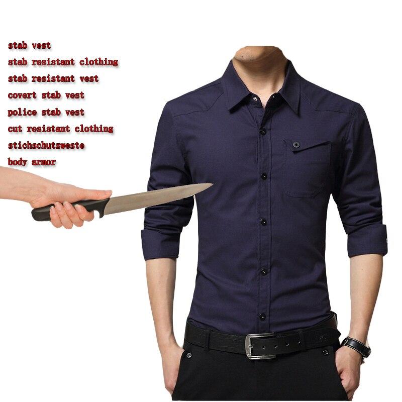 Shirts Anti-stab Anti Cut Clothing Anti Blade Shirts Self Defense Tactical Men Stab Resistant Bodyguard Shirt Police Businessmen Tops