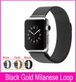 Black Gold Silver Milanese Loop band & Link Bracelet Stainless steel strap for apple watch 42mm 38mm Watchband