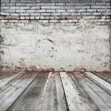 Laeacco Photography Backgrounds Old Cement Brick Wall Wooden Board Child Portrait Backdrops Photocall Photo Studio