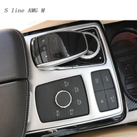 Car Styling Interior stickers Water Cup Holder Panel Decoration Cover Trim For Mercedes benz GLE ML W166 GL GLS Auto Accessories