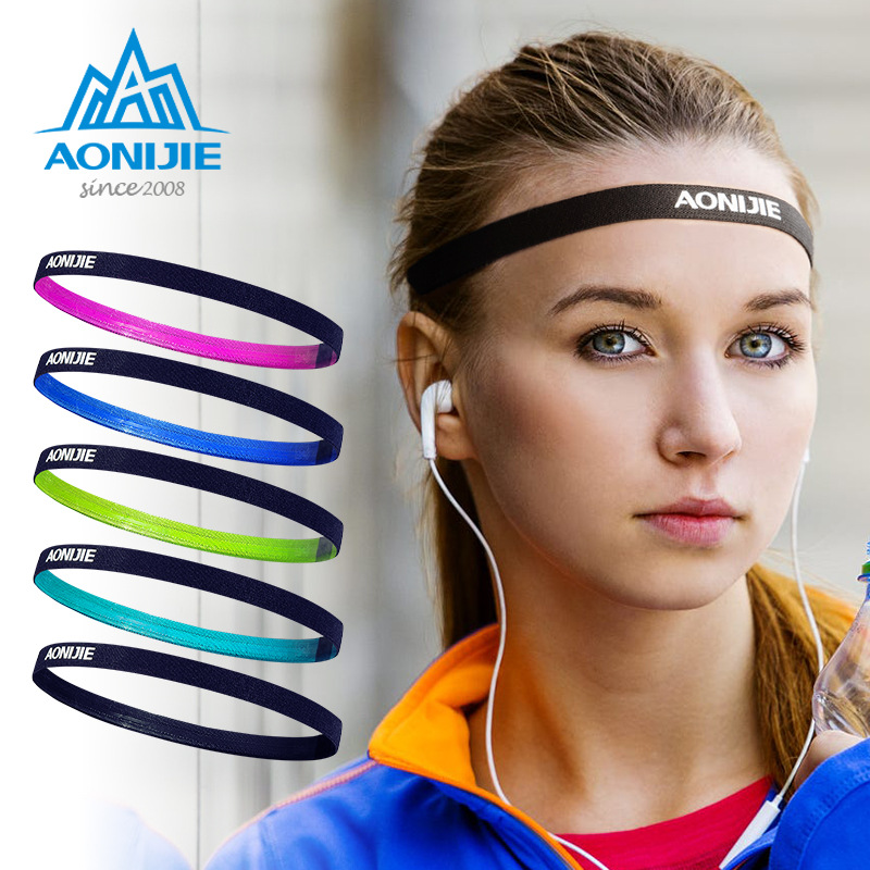 Aonijie Silicone Guiding Belt Men and Women Tennis Yoga Headwear Yoga Sweatband Running Riding High Elastic Sweat Headband