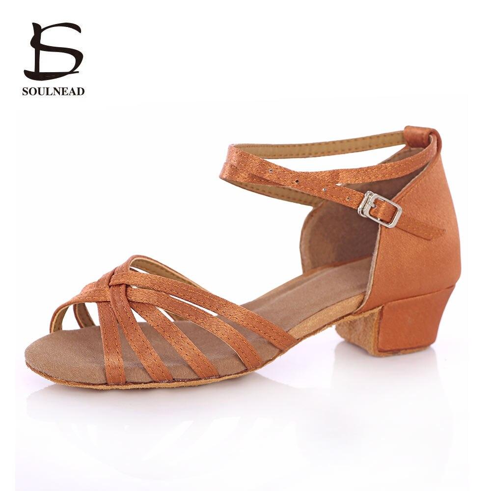Cheap Latin Womens Dancing Shoes Salsa Dance Women Shoes Heels Low Ladies Ballroom Latin Tango Dance Shoes Girls/Kids Children