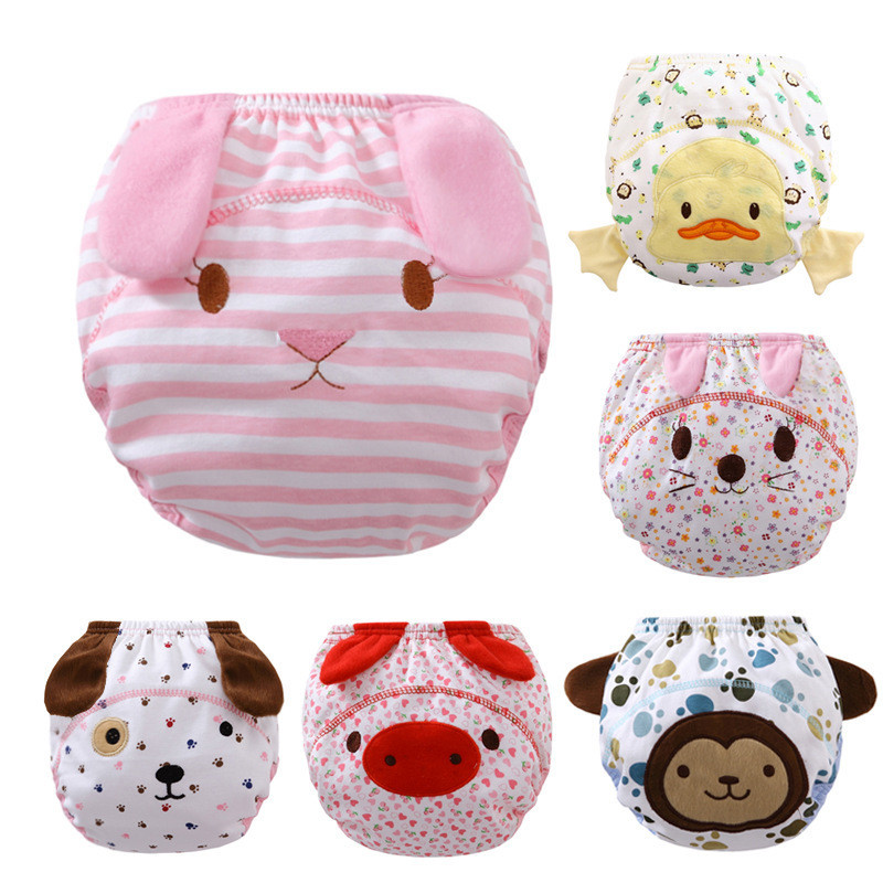 3pcs/lot Diapers baby diaper childrens underwear reusable nappies training pants panties for toilet training child a-qdkbl011-3