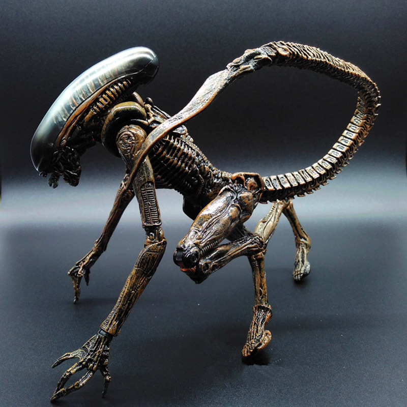 1pc Alien vs Predator AVP ABS 20cm Action Figure Model Collectie toy MOVIE Film Brinquedos opp BAG Scar Predator QUEEN stealth edition predator alien ganso elders lone wolf mask film may be moving even hand model h28