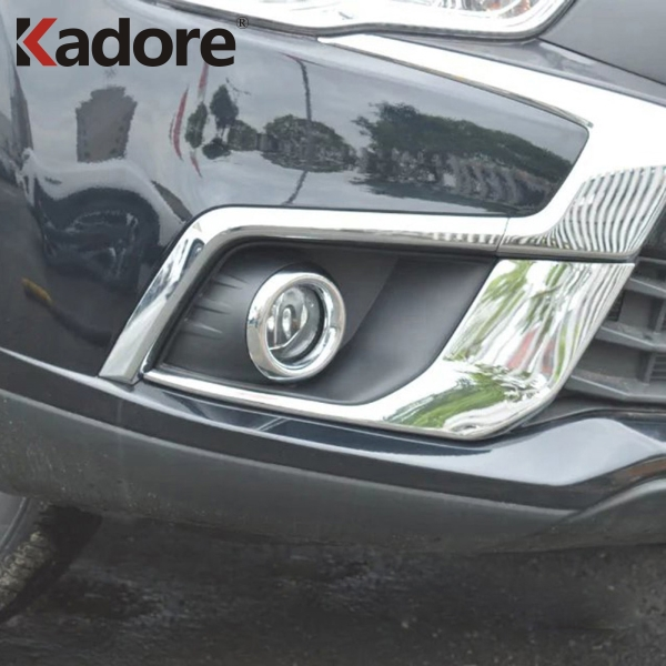 For Mitsubishi ASX SUV 2016 2017 Car Front Fog Lamp Light Cover Former Foglight Sheild Trim Exterior Accessories Chrome Styling image