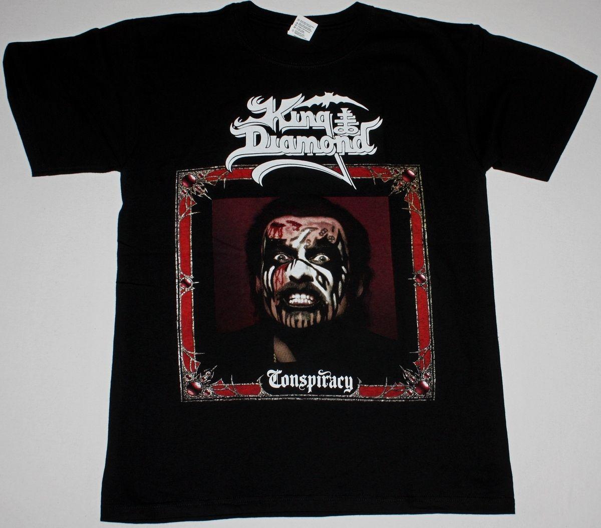 KING DIAMOND CONSPIRACY BLACK T SHIRT MERCYFUL FATE PORTRAIT HEAVY METAL Gift Print T-shirt,Hip Hop Tee Shirt,NEW ARRIVAL tees