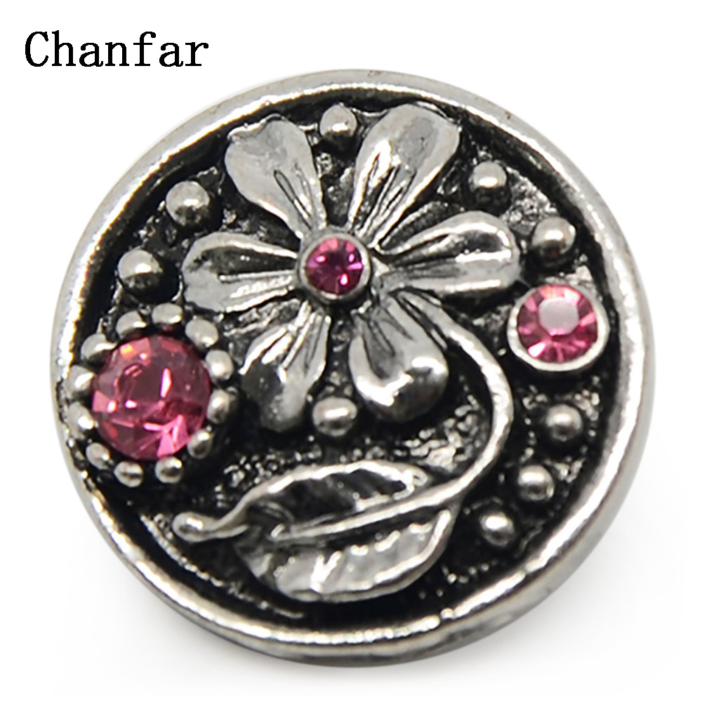 High Quality Flower Pattern Metal Snap Button Jewelry For Making Fashion Jewelry