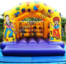 Inflatable Bouncer With Double Lane Slide_Dry/ Wet Slide (Inflatable Slide)