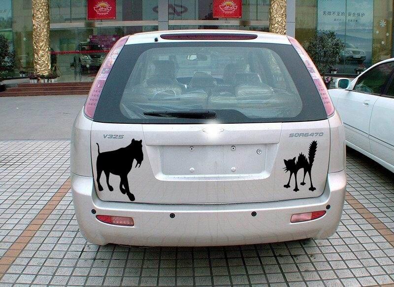 R$ 19 96 22% de desconto Nova Chocado Elétrica Gato janela do carro adesivo  de vinil decalque engraçado animal carro de jdm laptop bin frigorífico