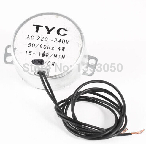FREE SHIPPING Metal Synchronous Motor 2-Wired 15/16 r/min Speed AC 220V-240V 50/60Hz 4W