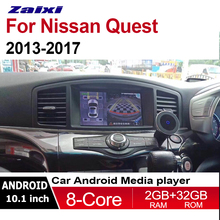 ZaiXi 2din Android DVD for Nissan Quest 2011~2017 GPS Radio BT Navi MAP Multimedia player system WIfi HD Screen Map Head Unit