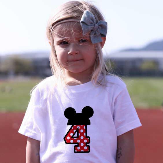 1 2 3 4 5 6 ปีวันเกิดเด็ก T เสื้อสบายๆเสื้อยืดเด็กเสื้อผ้าเด็ก tee เสื้อผ้าเครื่องแต่งกายสำหรับเสื้อเด็ก