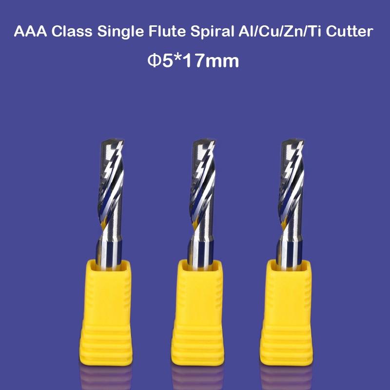 3pcs/lot 3A New 5mm *17mm HQ Carbide CNC Router Bits Single Flute Aluminum Cutting Tools Alu Cutter SHK 5mm цены
