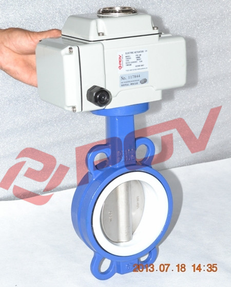 d971f electric butterfly valve with ptfe seat