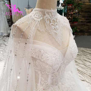 Image 5 - AIJINGYU خمر فرشاة سوتشو ثوب خمر الدعاوى للعروس بسيطة مع الأكمام فساتين الزفاف طويلة الأكمام الهندي