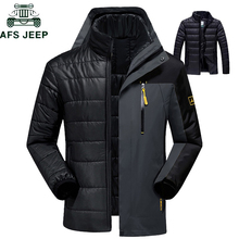 2019 Winter Thermal Jacket Men Waterproof Thick Warm 2 in 1