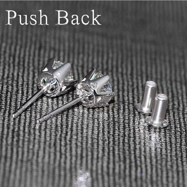 18K 750 White Gold 1CT Diamond Stud Earrings