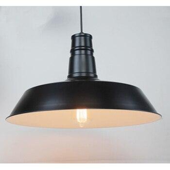 Aluminium Kappe Anhänger Licht Vintage Loft Matt Schwarz/weiß E27 Lampe Beleuchtung Droplight GY250 Lo1024
