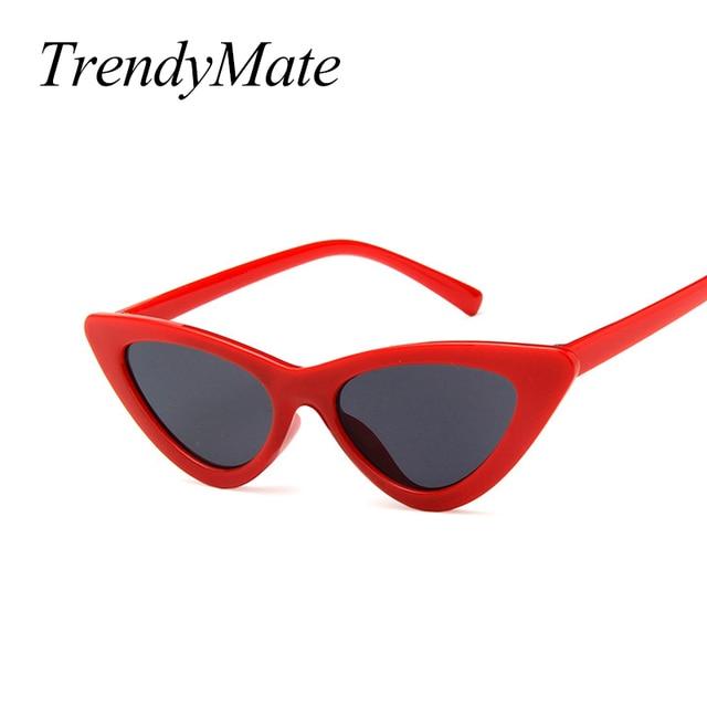 c9bc49604f5b9 2018 Kids Sunglasses Girls Brand Cat Eye Children Glasses Boys UV400 Lens  Baby Sun glasses Cute