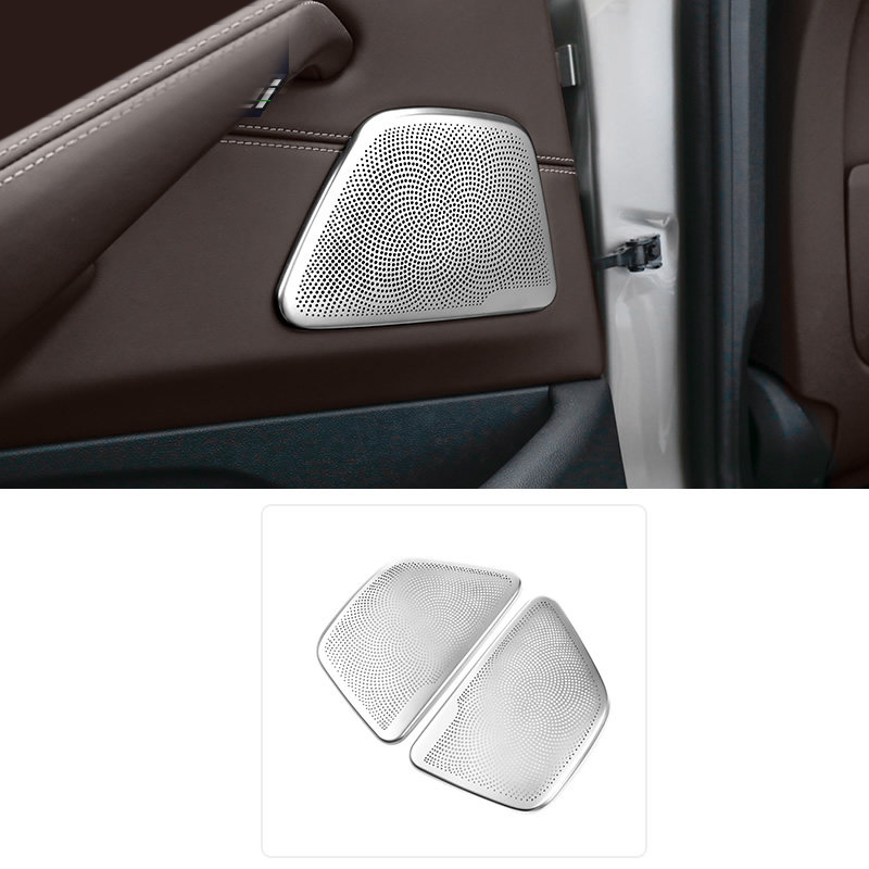 2PCS Stainless Steel Rear Door Speaker Cover Trim For BMW 5 Series G30 6 Series GT G32 2017 2018 quantum alpha series 6 5 inch component speaker