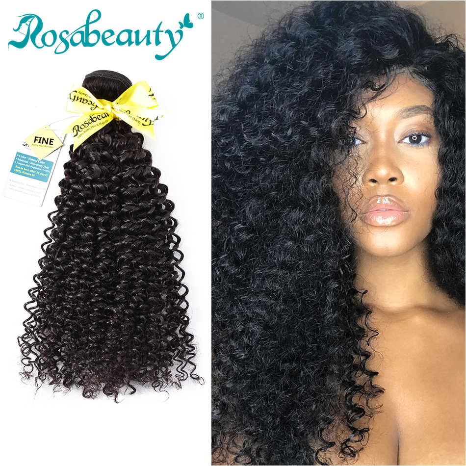 Rosa Beauty Hair Mongolian Afro Kinky Curly Hair Extensions 100% Human Remy Hair 1 3 4 Bundles Natural Color Hair 10-28 Inch