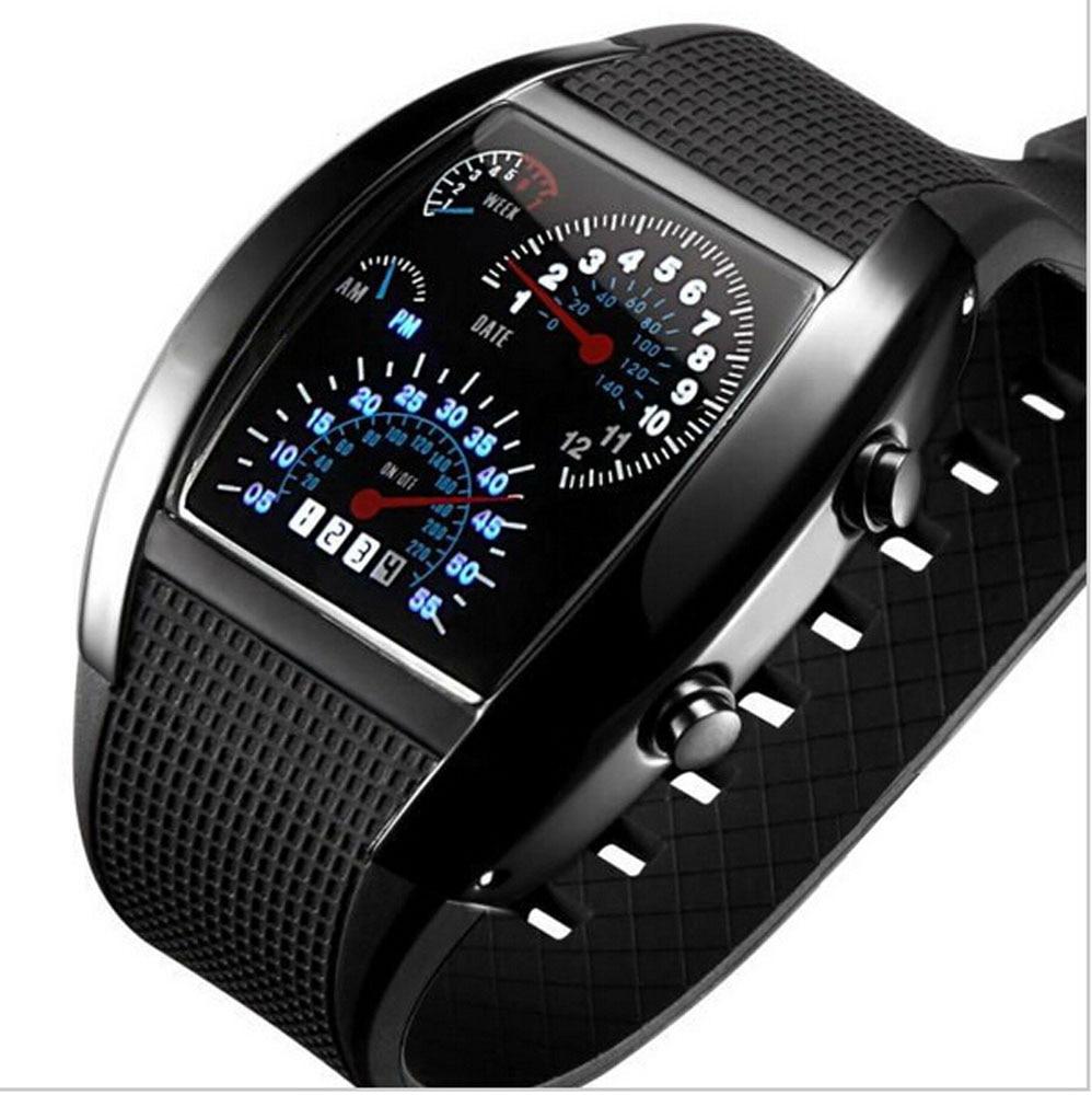 2016 NEW Fashion Luxury Fan Shaped LED Sports Watches