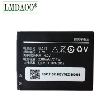 2018 nowy BL171 2000mAh bateria dla Lenovo A319 A60 A500 A65 A390 A368 A390T A356 A370e BL-171 Darmowa wysyłka + prawidłowy kod toru tanie i dobre opinie 1801mAh-2200mAh Zgodny Z O O