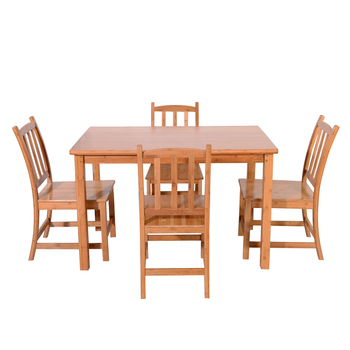 Modern Concise 1.2m Bamboo Dining Table
