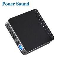 Poner Saund DLP100W Pocket HD Portable DLP Projector Micro Wireless Multi screen Mini LED Battery HDMI USB Portable Home Cinema