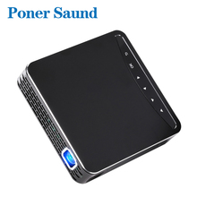 Poner Saund DLP100W Pocket HD Portable DLP Projector Micro Wireless Multi-screen Mini LED Battery HDMI USB Portable Home Cinema