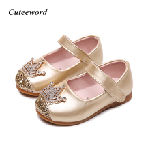 Cute girl causal leather shoes cartoon 3D graffiti print princess for 3-12yrs girls kids childrens outdoor hot sale