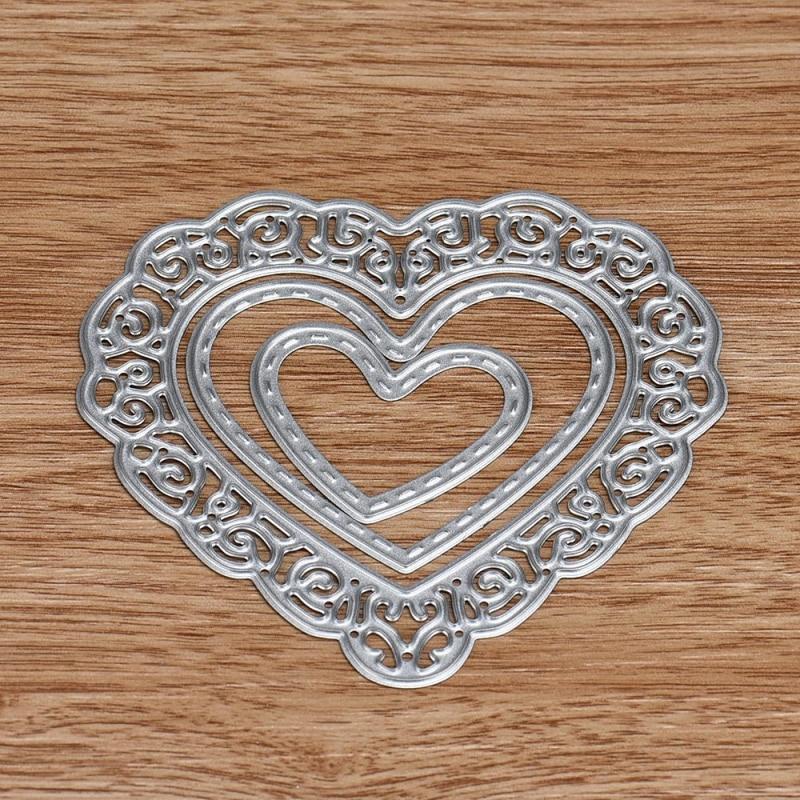 Happy home flower heart metal cutting dies stencils diy scrapbooking album paper card craft 1 piece