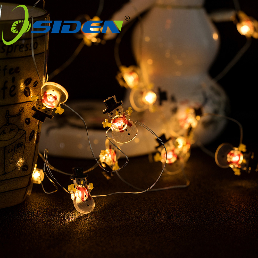 LED String Light Snowman 1M2M5MOutdoor Waterproof Copper Wire String Holiday Fairy Lights For Christmas Party Wedding Decoration