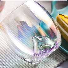 Europe crystal glass Wine Glass Rainbow Teardrop Lead-Free manual water cup Lon plating brilliantly Colorful Drinkware