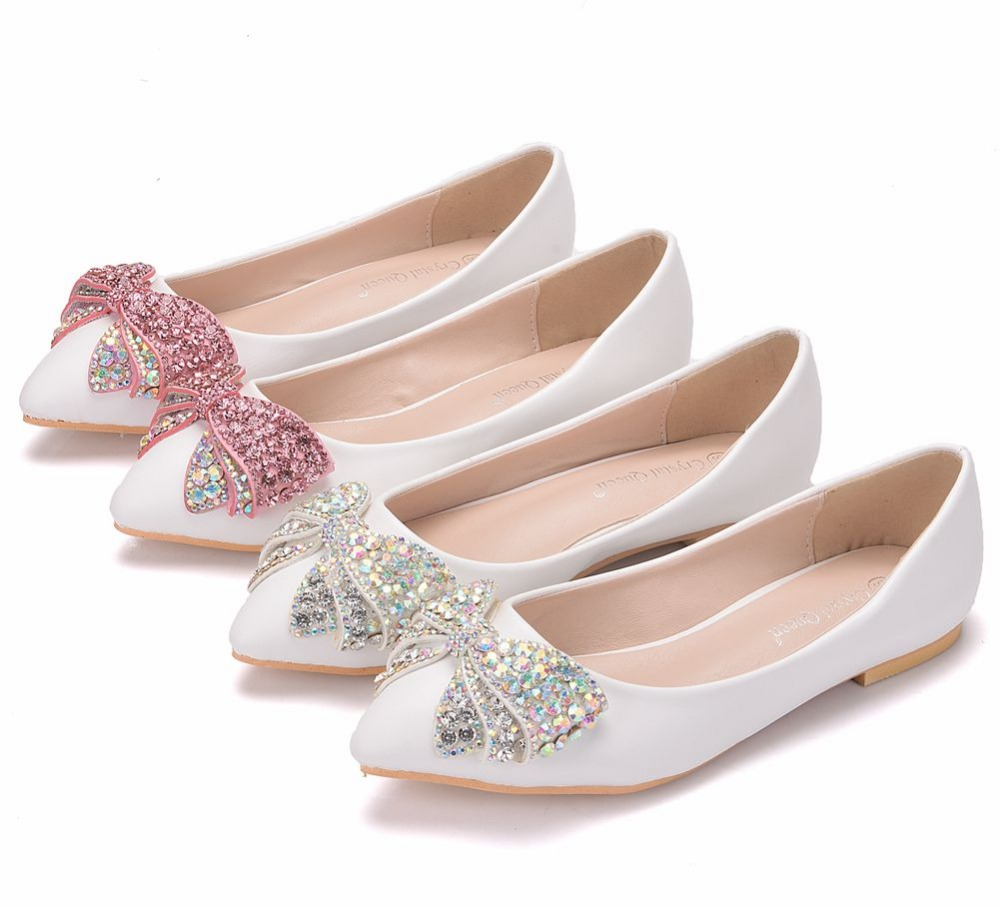 Crystal Queen Women Flats Shoes Handmade Wedding Shoes Pearl Rhinestone  Beaded Anklet Lace-Up Shoes White Bridesmaid ShoesUSD 18.20-21.45 pair. 12.  ORA 7719 ... 2aa50dae4993