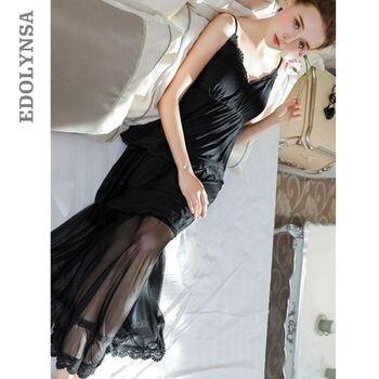 Elegant Black Babydoll Sleepwear