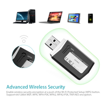 dodocool N300 Wireless-N Wireless Network USB 2.0 Adapter Wi-Fi Dongle 2.4 GHz 300 Mbps Support Windows XP/Vista/7/8/8.1/10/Mac