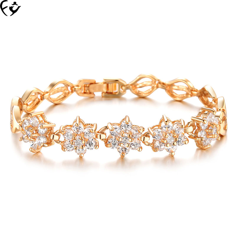 Popular bridal accessory bridal exquisite jewelry bracelet FANGY17071501