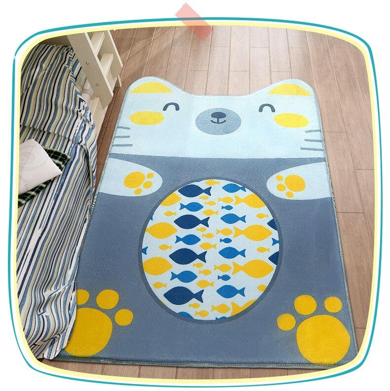 Tapis de bande dessinée de mode mignon multifonctionnel tapis de porte de tapis rampant de bébé avec des formes animales pour l'usage dans la chambre à coucher de salon
