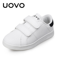UOVO 2017 New Autumn White Shoes Classic And Simple Kids Sneakers Boys And Girls Comfortable Children