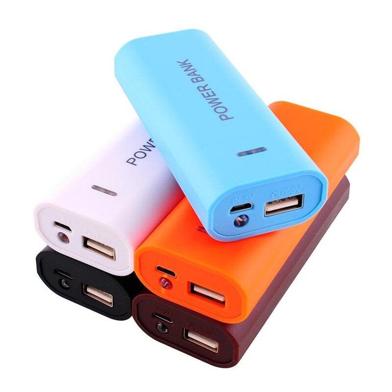 Nuevo 2 unids 18650 Titular de BRICOLAJE Caja de la Caja de La Batería 5 V USB P