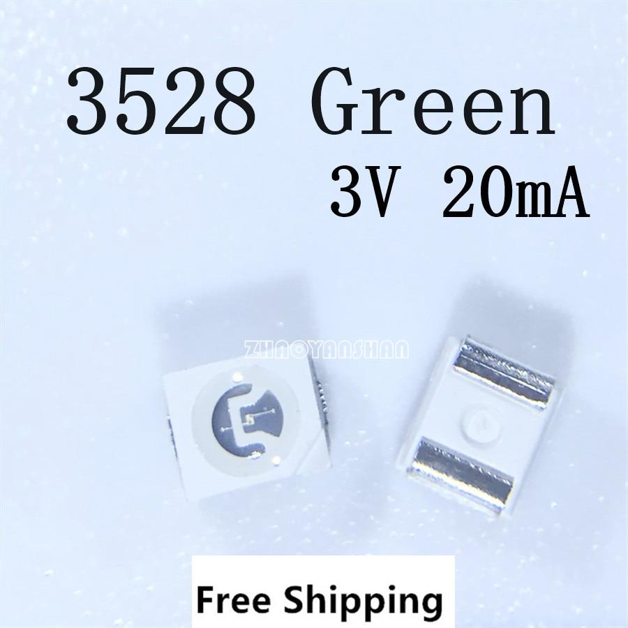 10000pcs X Led Lamp 3528 Green 1210 Green 3V SMD diode smd led super bright leds