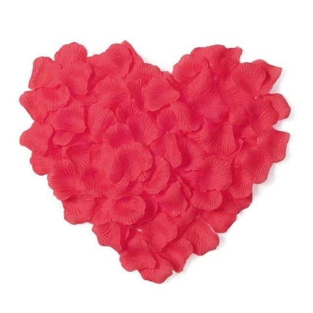 2000 шт. / партия 5* 5 см шелковые лепестки роз на свадьбу, Романтические искусственные лепестки роз Свадебные розы - Цвет: Red