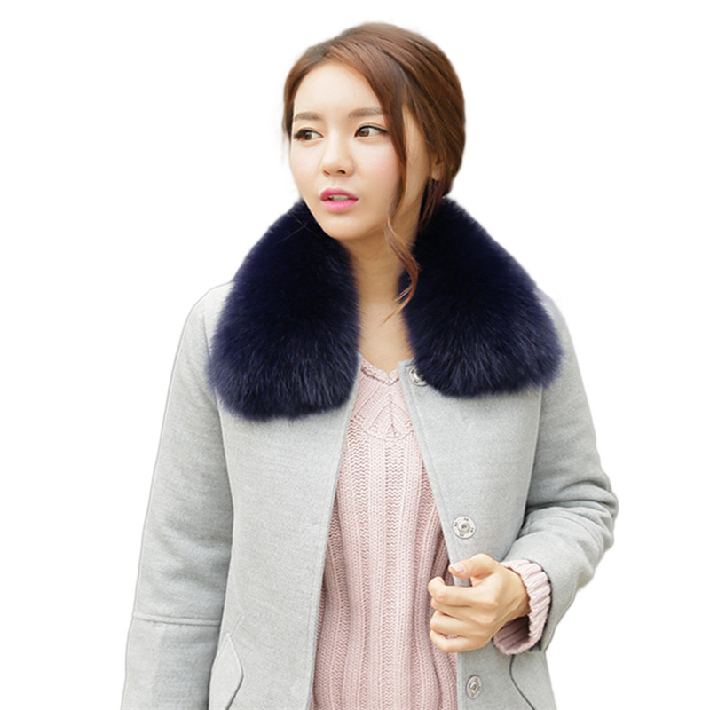 2019 Simple Women's Fur Collar Winter Fashion Square Collar Fack Scarf Fox Scarf Human Fox Fur Shawl Accessories Coat Warm .
