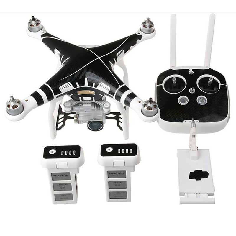 Купить с кэшбэком DJI Phantom 3 Waterproof Decals Graphic Wrap Skin Decal Stickers for DJI phantom3 Drone body +remote control+battery accessories