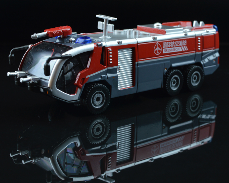 Alloy Water Cannon Fire Truck Foam Original Simulation Car Truck Model
