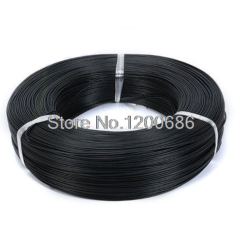 UL 1007 20AWG BLACK 10 meters <font><b>UL1007</b></font> 20AWG electrical wire conductor 20awg 1007 image