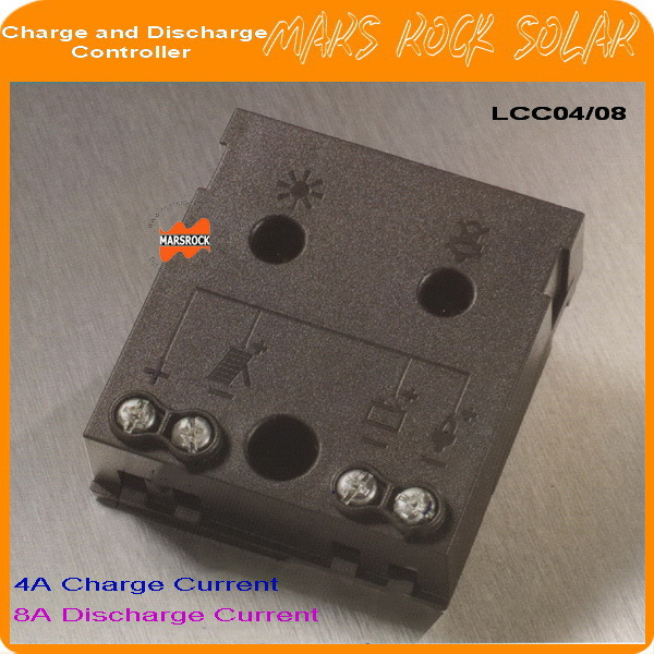 12V Solar 4A Charge and 8A Discharge Controller for Small Off-grid PV System with automatic temperature compensation function