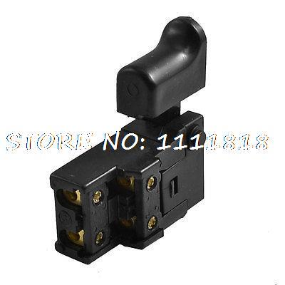 DPST NO Trigger Switch without Lock AC 250V 6A for Electric Drill 5e4 ac 250v 4a speed control lock on trigger switch spst for electric drill